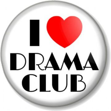 I Love / Heart DRAMA CLUB Pinback Button Badge Stage School Acting Theatre Play Performing Arts